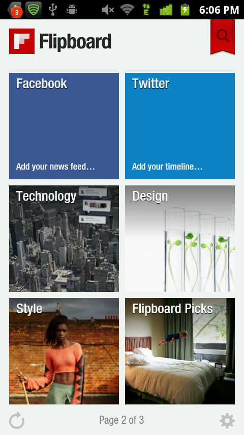 flipboard for android items