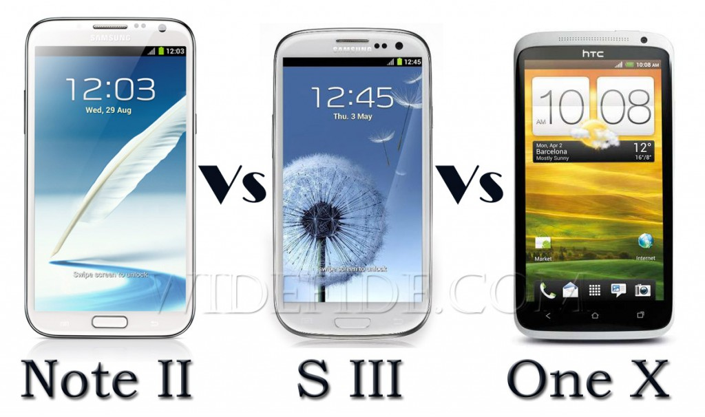Samsung Galaxy Note 2 vs S3 vs HTC One X